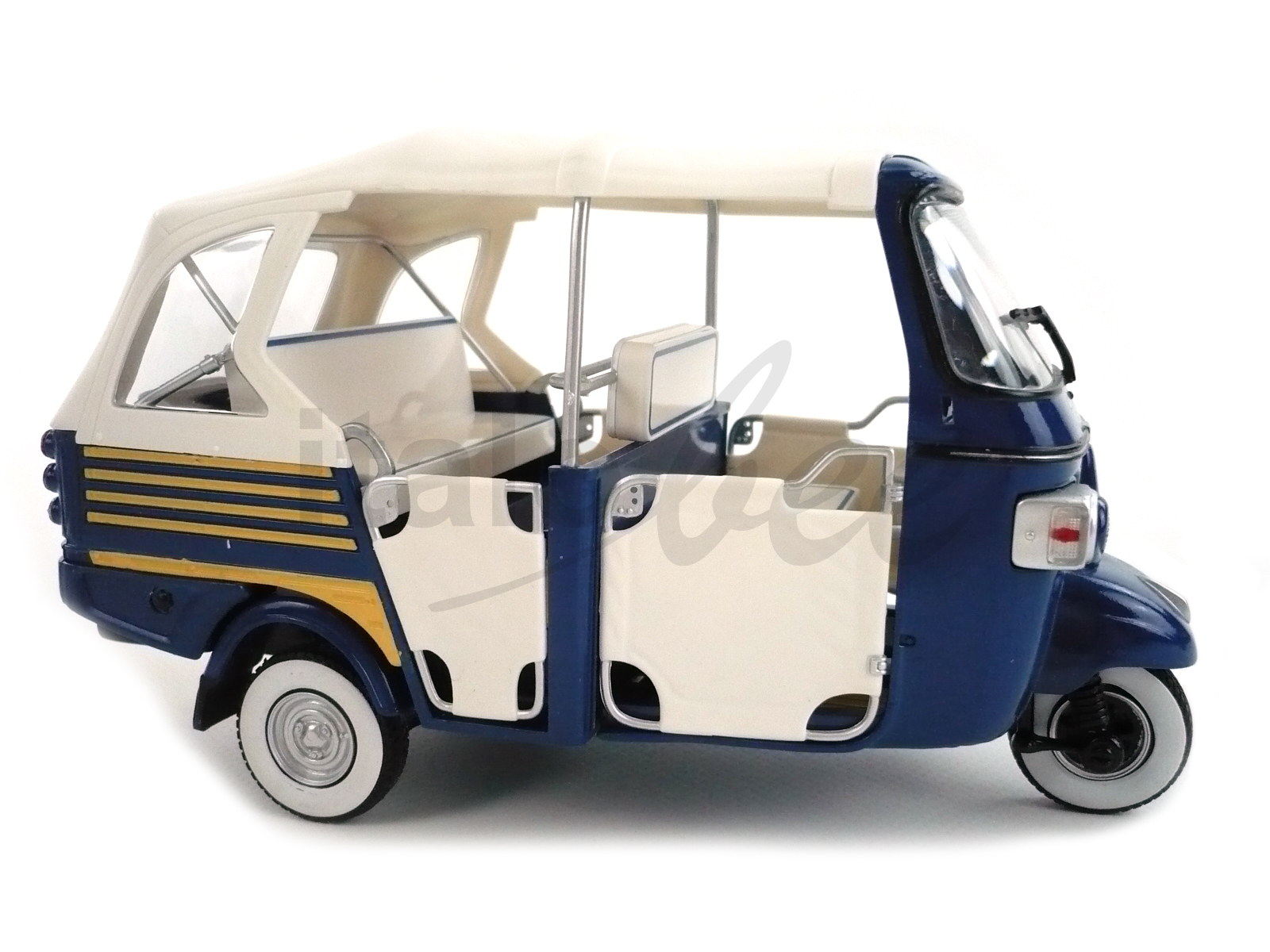 modell 1 18 piaggio ape calessino blau sammlermodelle. Black Bedroom Furniture Sets. Home Design Ideas